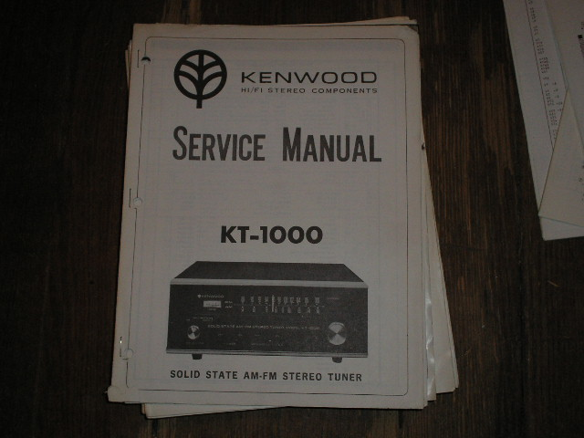 KT-2000 Tuner Service Manual  Kenwood