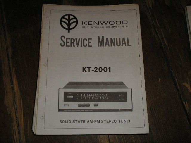 KT-2001 Tuner Service Manual  Kenwood