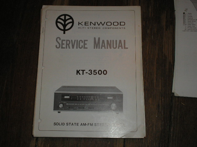 KT-3500 Tuner Service Manual  Kenwood