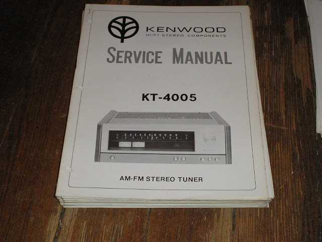 KT-4005 Tuner Service Manual  Kenwood