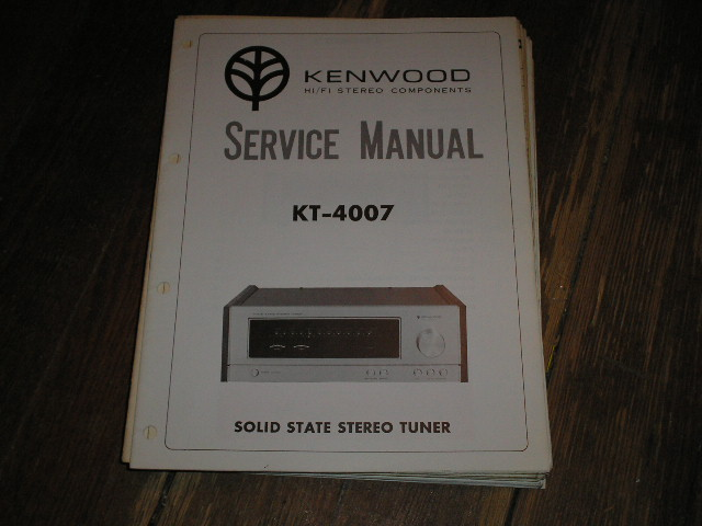 KT-4007 Tuner Service Manual  Kenwood