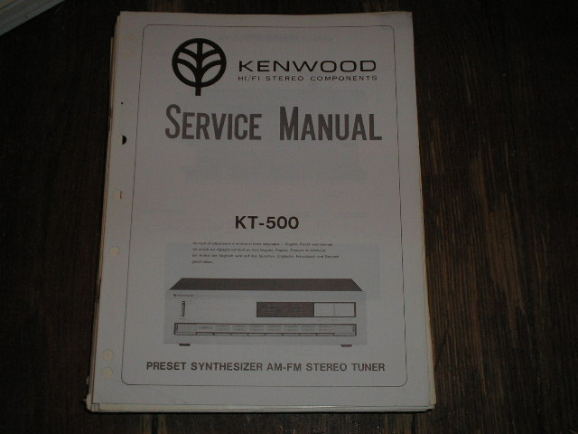 KT-500 Tuner Service Manual  Kenwood