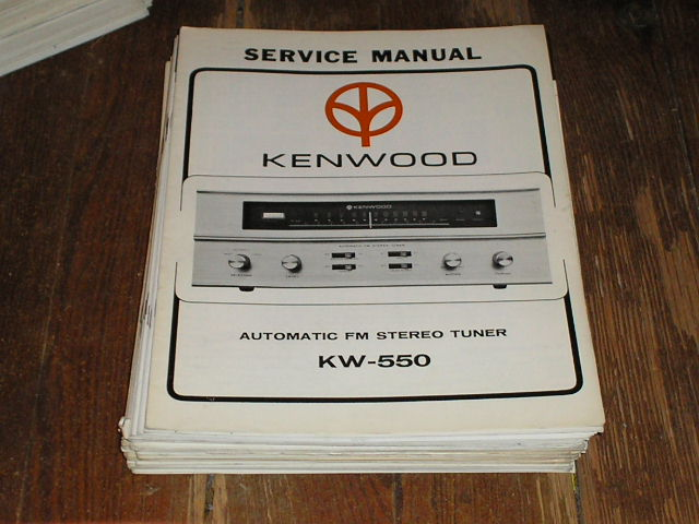 KW-550 Tuner Service Manual  Kenwood