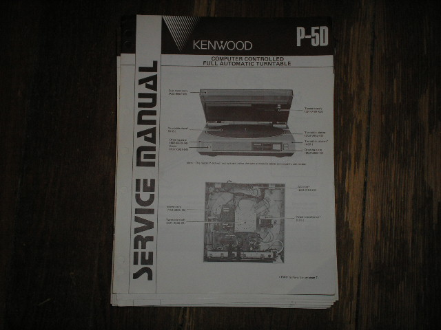 P-5D Turntable Service Manual  Kenwood