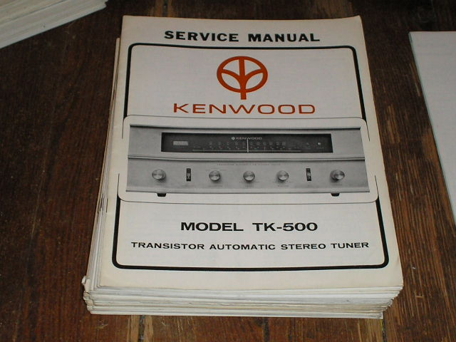 TK-500 Tuner Service Manual  Kenwood
