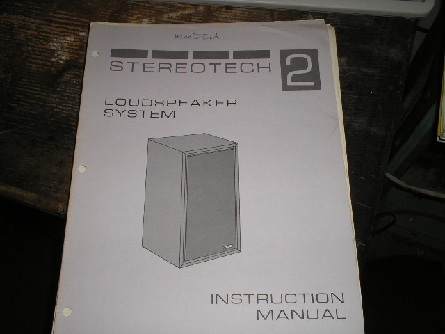 STEREOTECH 2 Loudspeaker Service Manual for Serial Number BN1001 and above..