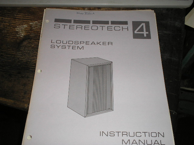 STEREOTECH 4  Loudspeaker Service Manual for Serial Number BR1001 and above..