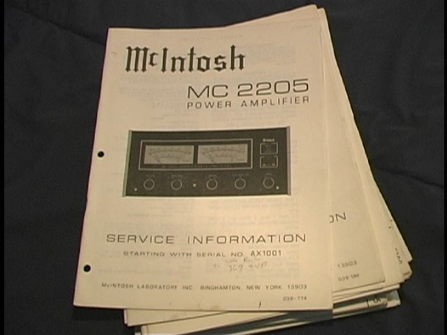 MC 2205 Power Amplifier Service Manual for Serial No. AX1001 and Up.