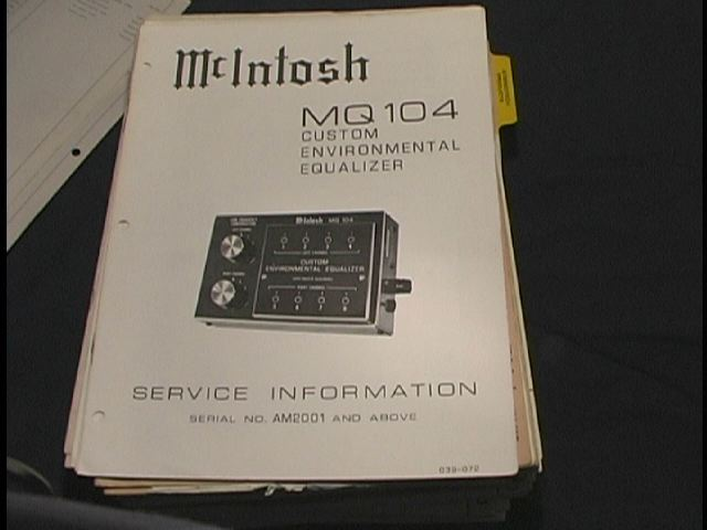 MQ104 Enviromental Equalizer Service Manual Starting With Serial # AM2001 and up.