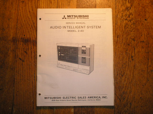 Z-40 INTELLIGENT AUDIO COMPONENT SYSTEM Service Manual