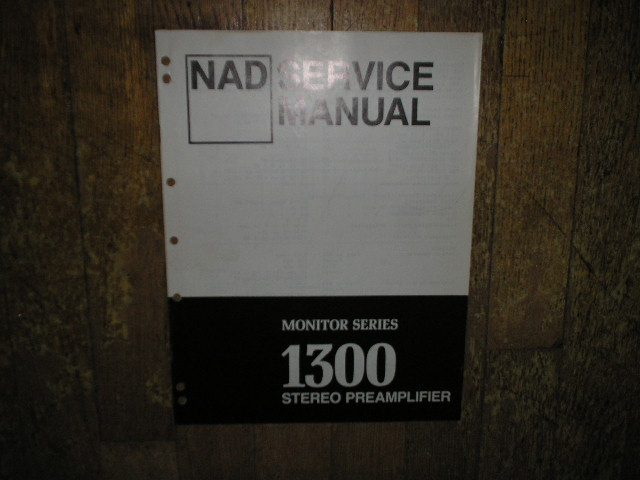 Monitor Series 1300 Stereo Pre-Amplifier Service Manual