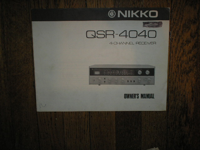 QSR-4040 AM FM Stereo Receiver Owners Manual