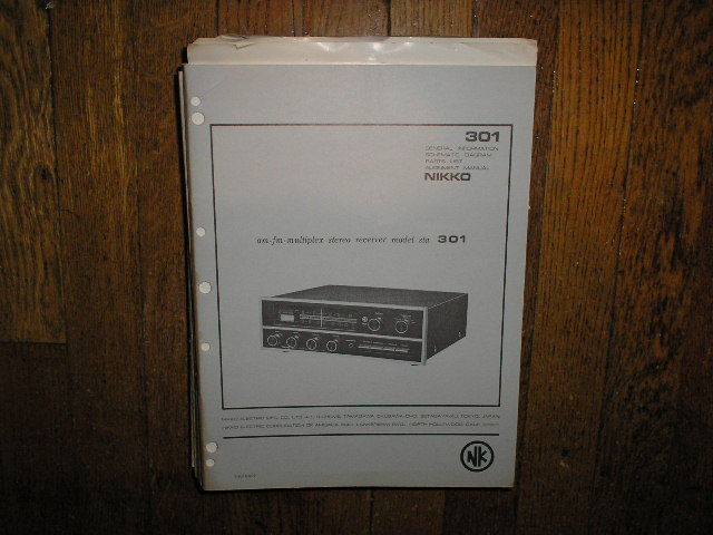 STA-301 AM FM STEREO RECEIVER Service Manual with Schematic