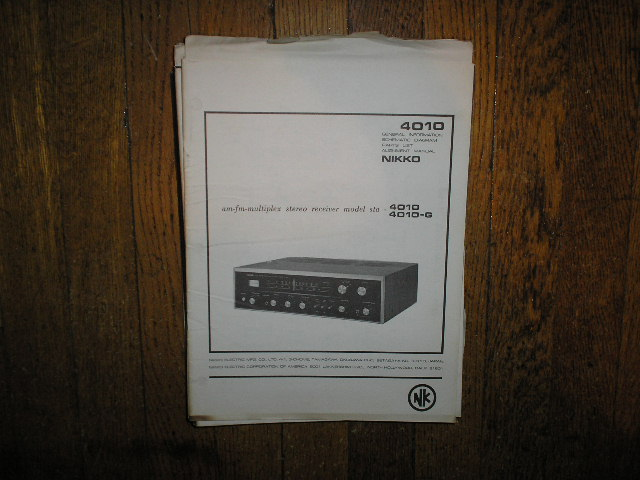 STA-4010 STA-4010-G AM FM Stereo Receiver Service Manual with Schematic