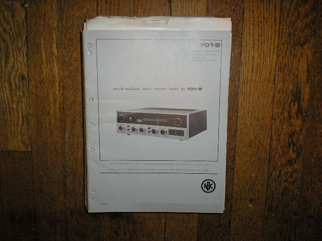 STA-701B AM FM Stereo Receiver Service Manual with Schematic