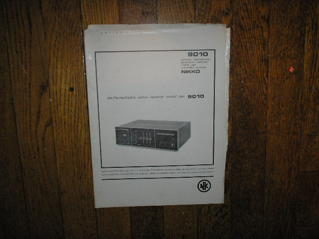 STA-9010 AM FM Stereo Receiver Service Manual with Schematic