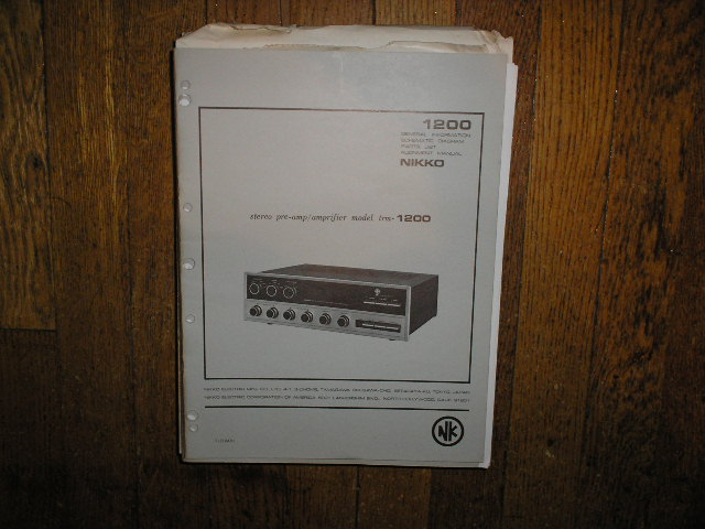 TRM-1200 Amplifier Service Manual with Schematic