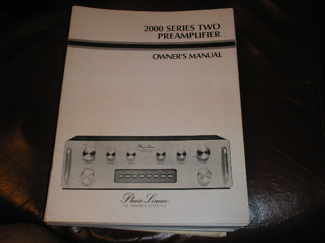 2000 Series Two 2 Pre-Amplifier Owners Manual  Phase Linear