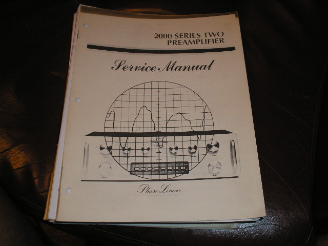 2000 Series Two 2 Pre-Amplifier Service Manual  Phase Linear