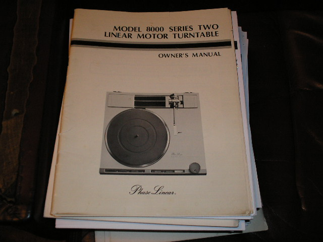 8000 Turntable Owners Manual