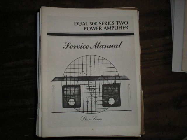 Dual 500 Series Two 2 Power Amplifier Service Manual