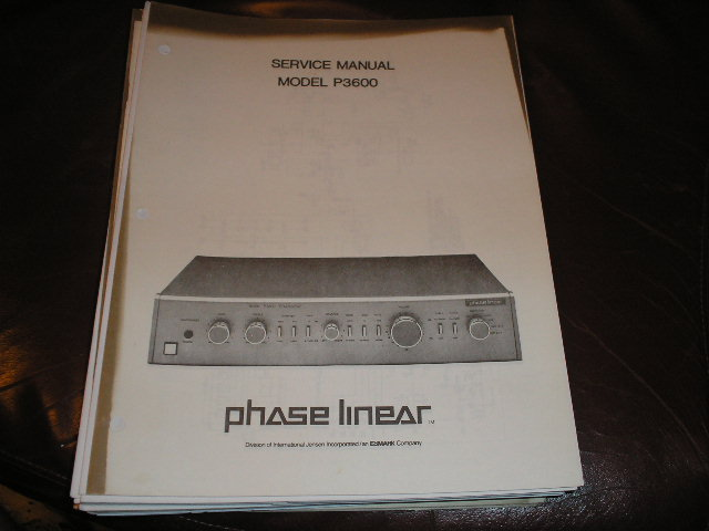 P3600 Pre-Amplifier Service Manual  Phase Linear