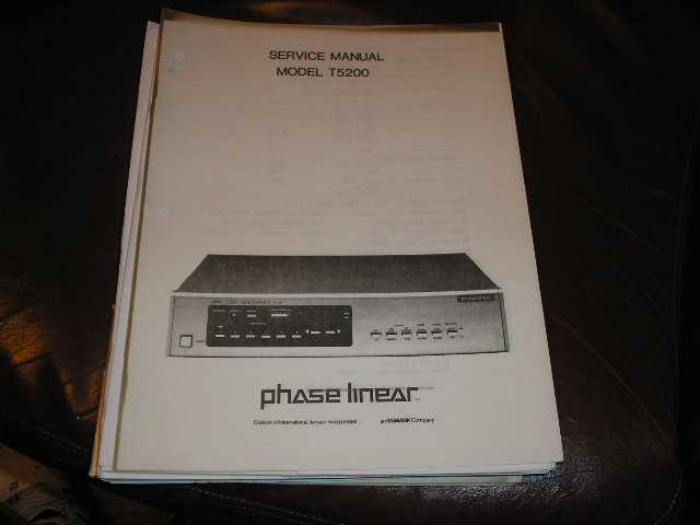 T5200 Tuner Service Manual  Phase Linear