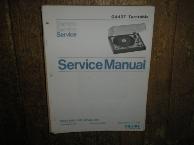 GA427 Turntable Service Manual  PHILIPS