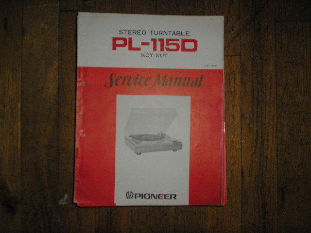 PL-115D KUT KCT Turntable Service Manual  Pioneer