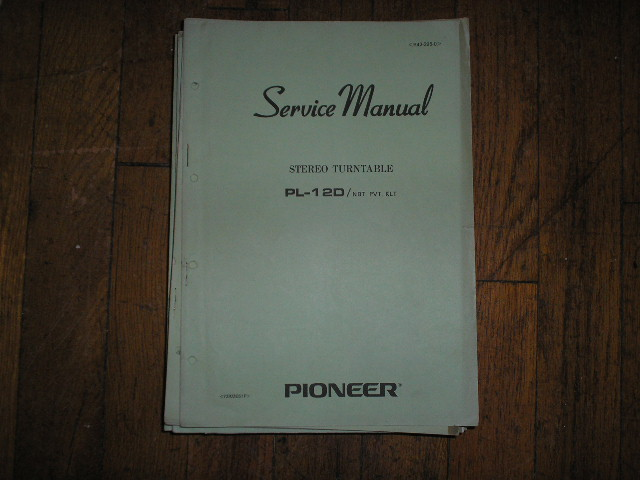 PL-12D NBT PVT KLT  Turntable Service Manual  R42-295-0