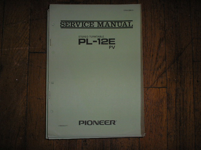 PL-12E PL-12E PV Turntable Service Manual R42-328-0