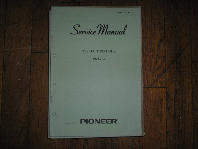 PL-12 PL-12M PV PL-12 AC PV Turntable Service Manual R42-066-0