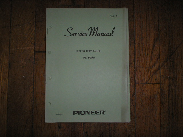 PL-50A P Turntable Service Manual  Pioneer