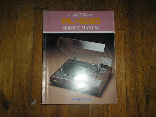 PL-530 Turntable Service Manual  ART-187-0