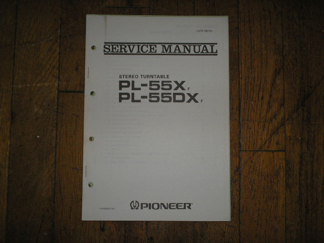 PL-55X F PL-55DX F Turntable Service Manual  Pioneer