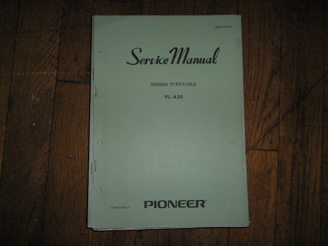 PL-A35 Turntable Service Manual  Pioneer