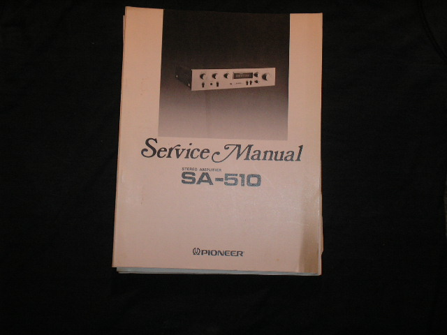 SA-510 Amplifier Service Manual