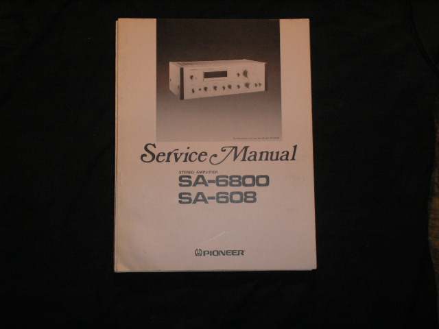SA-608 SA-6800 Amplifier Service Manual