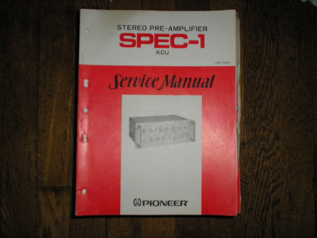 SPEC-1 Stereo Pre-Amplifier Service Manual  Pioneer