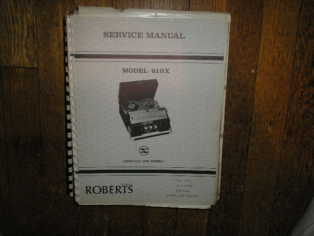 610X Stereo Reel to Reel Tape Deck Service Manual