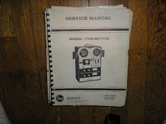 770X-SS 771X Stereo Reel to Reel Tape Deck Service Manual  ROBERTS