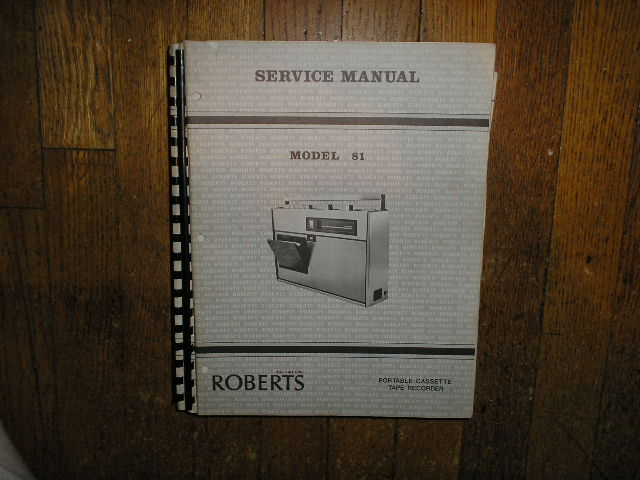 81 Stereo Cassette Tape Deck Service Manual
