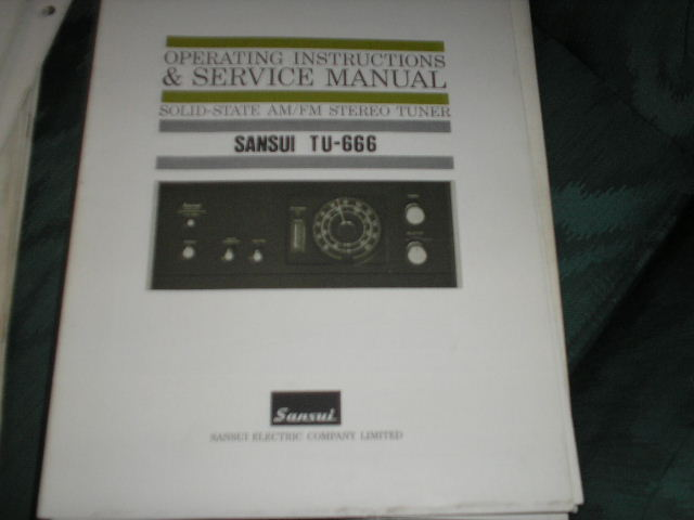 TU-666 Tuner Operating Service Instruction Manual  Sansui