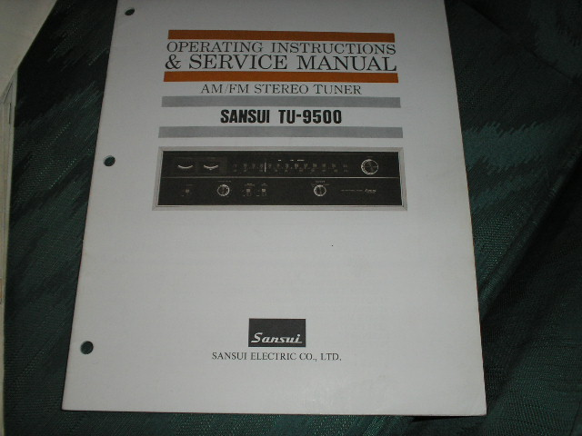 TU-9500 Tuner Owners Manual  Sansui
