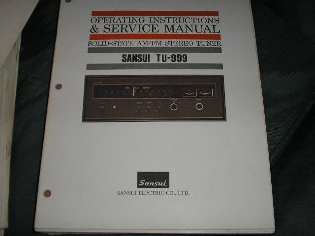 TU-999 Tuner Operating Instruction Manual  Sansui