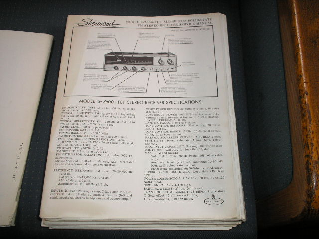 S-7600A Receiver Service Manual Serial NO.A904501 and Up