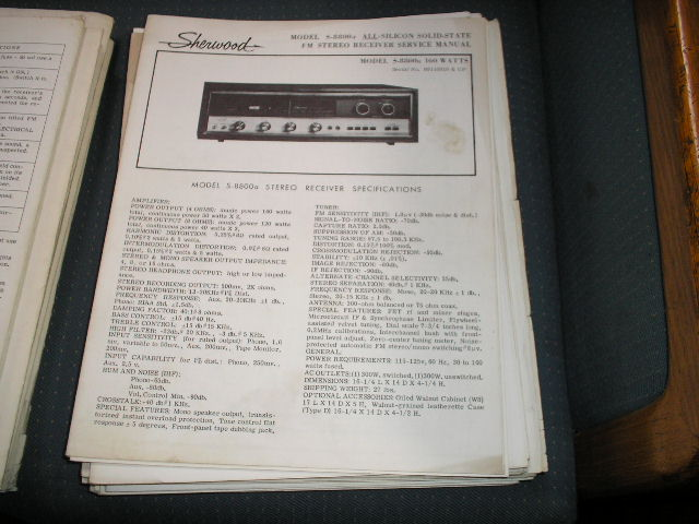 S-8800 Receiver Service Manual 140 Watt for Serial No. R8110018 and Up.