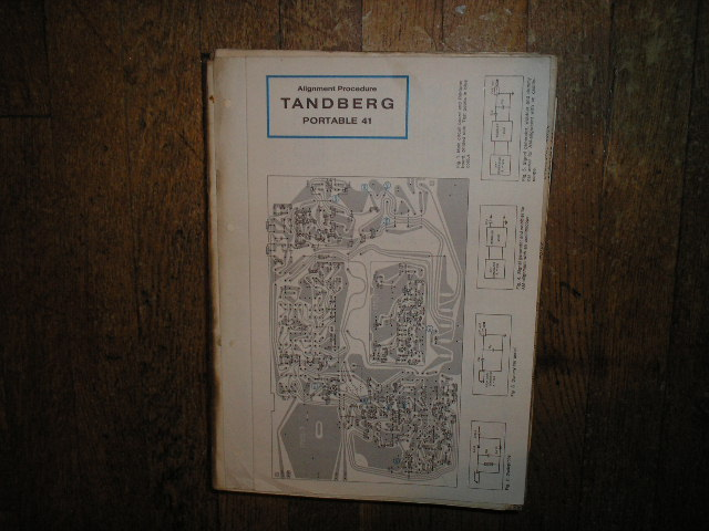 Model 41 Portable 41 Tape Recorder Schematic and Alignment Chart  TANDBERG