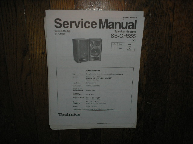 SB-CH555 Speaker System Service Manual