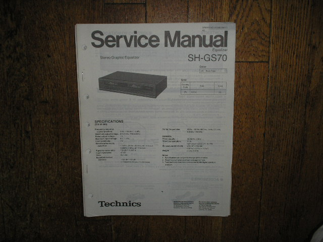 SH-GS70 Equalizer Service Manual